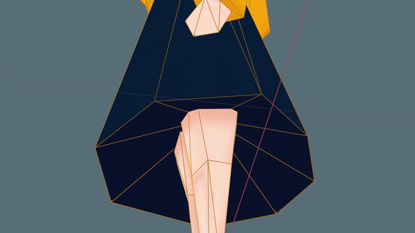 スカートは八角形