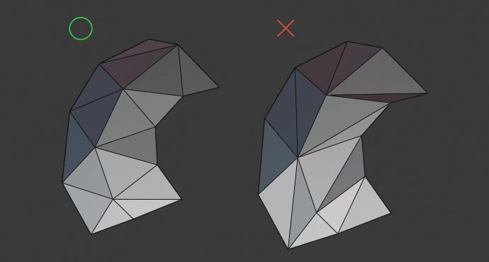 ローポリ三角分割例