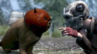 Skull head and Devil Mask