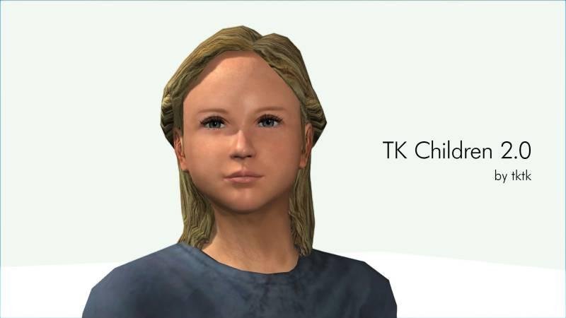 子どもの顔にバリエーションを与えるmod TK Children|skyrimshot