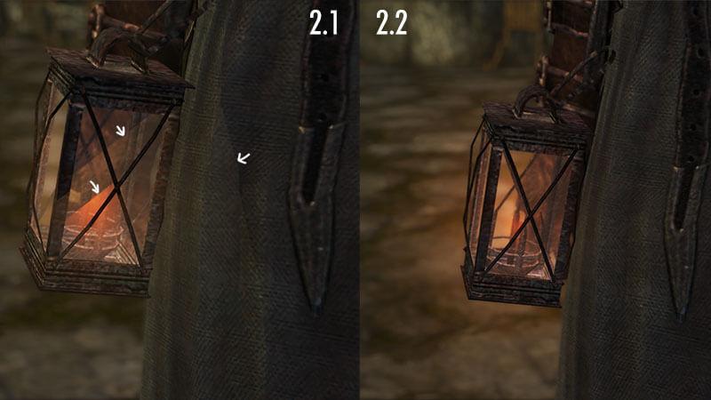 Quick Lightの2.1/2.2比較