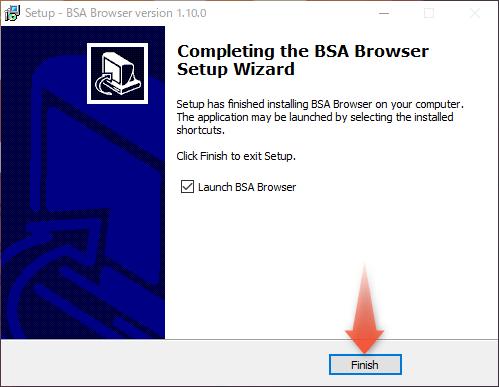 BSABrowserのインストール完了