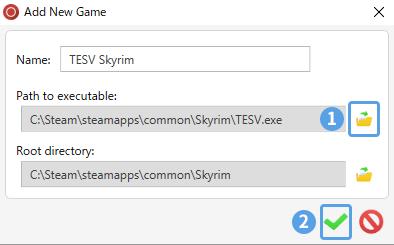 ENBManでゲームのパスを設定