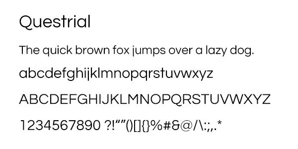 Questrial Font