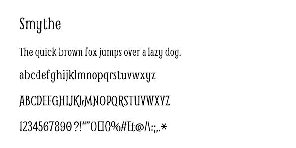Smythe Font
