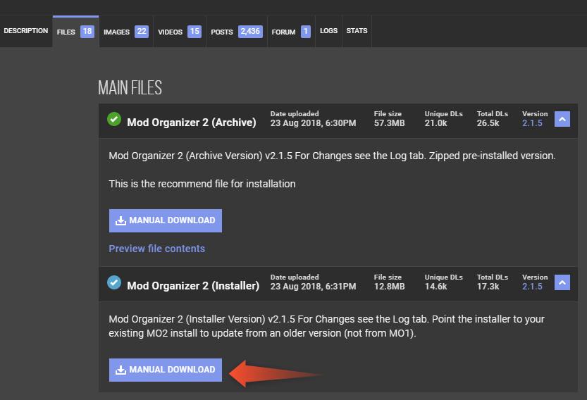 Mod Organizer 2の導入方法|skyrimshot